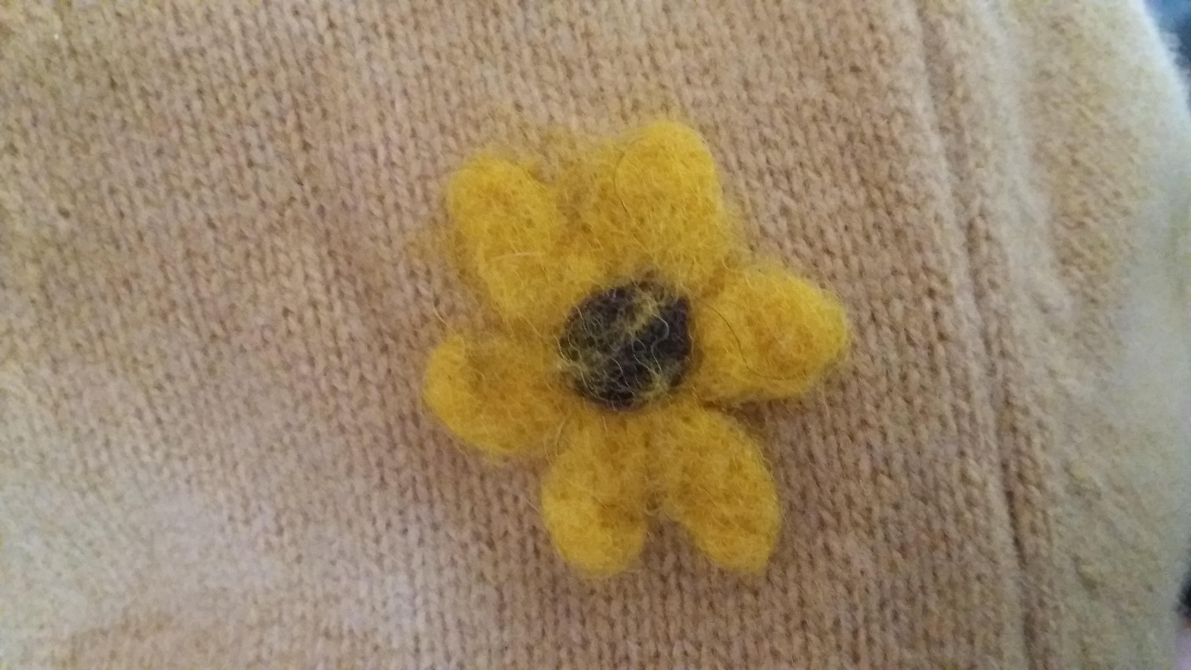 Uma flor feltrada