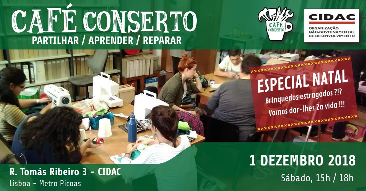 Café ConSerto Especial Natal, no CIDAC em Lisboa