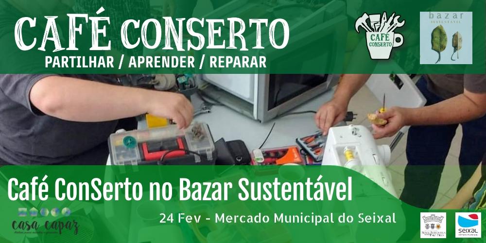 Café ConSerto no Bazar Sustentável